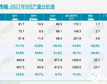2021年1-9月我国<em>新能源乘用车</em>销量同比增长203.1%