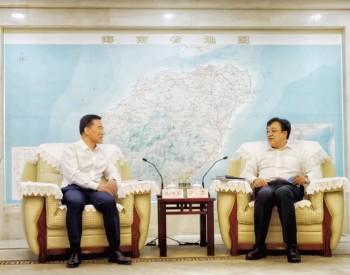 海南省长冯飞会见明阳集团党委书记、董事长张传卫