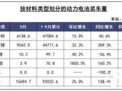 我国2021年9月<em>磷酸铁锂</em>电池装车量超三元锂电!同比上升309.3%