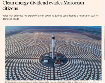 摩洛哥向欧洲出口清洁电力,可能导致本国依赖煤电?