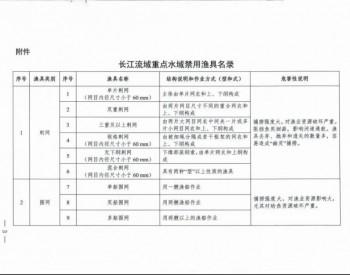 农业农村部关于发布长江流域重点水域禁用渔具名录