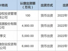 1.67亿!厚普股份组建基金公司投资氢能