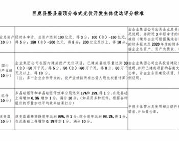 河北巨鹿县人民政府关于巨鹿县整县屋顶分布式光伏开发试点建设企业开发主体优选工作的公告