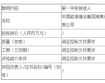 中标 | 湖南公司新能源公司广汽菲克停车场16.9MW光伏发电项目EPC总承包公开招标中标候选人公示