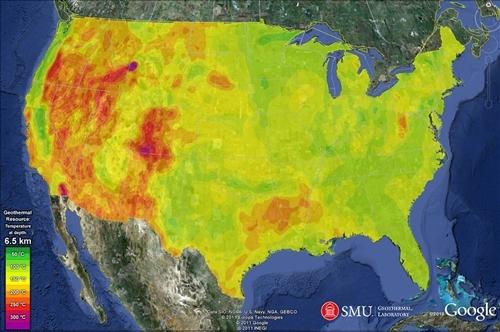美国探明巨量地热能源储量 为全美火电能力10倍