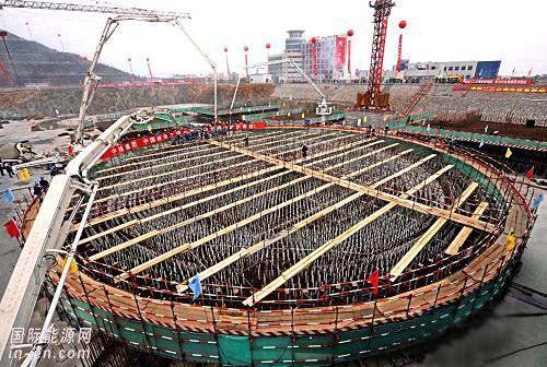 <em>秦山核电站</em>两台百万千瓦机组扩建工程方家山核电工程开工